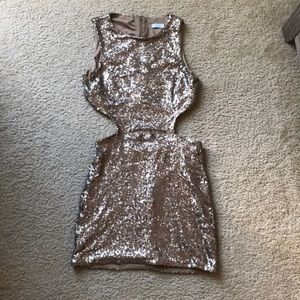 Gold Sequence Party Dress